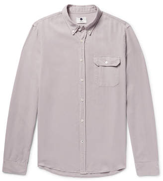 NN07 - Liam Button-Down Collar Lyocell and Linen-Blend Twill Shirt
