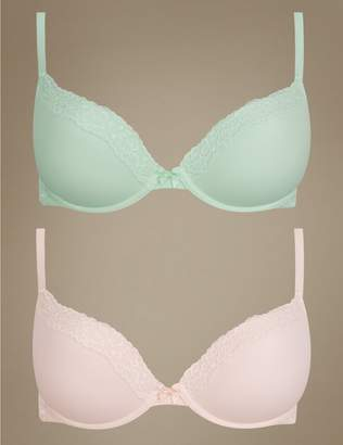 Marks and Spencer 2 Pack Lace Padded Push-up Bras A-E