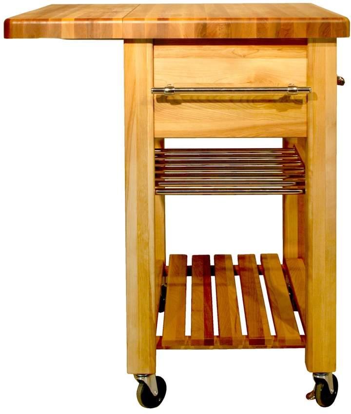 Catskill Craft Baby Grand Workcenter Kitchen Cart With Wine Rack
