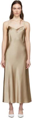 Joseph Beige Silk Satin Stone Dress