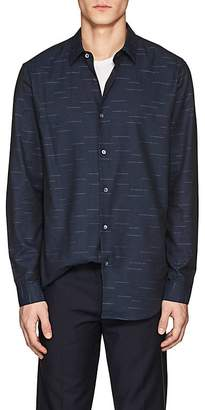 Theory Men's Tait Slash-Pattern Cotton Shirt