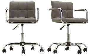 Next Cube Home Office Chair In Grey Faux Leather