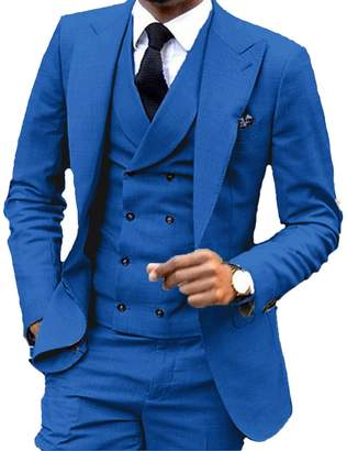 JYDress JY Men's Fashion 3 Pieces Men Suits Wedding Suits for Men Groom Tuxedos