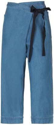 Rose' A Pois Denim pants - Item 42707235JG