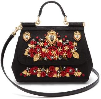 f24dc43754 Dolce   Gabbana Sicily Ayers   Brocade Cross Body Bag - Womens - Black Multi
