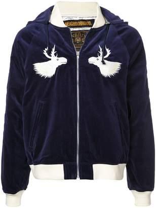 Neighborhood hooded velvet bomber jacket