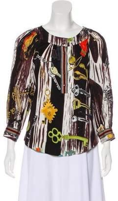Diane von Furstenberg Corso Silk Printed Blouse