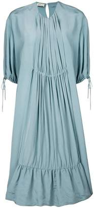 Mulberry oversized pleated front dress