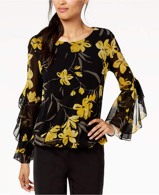 Alfani Spiral-Sleeve Bubble Top, Created for Macy's