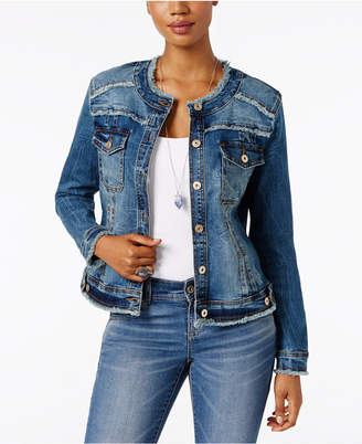 Inc International Concepts Frayed Denim Jacket, Created for Macy's $89.50 thestylecure.com