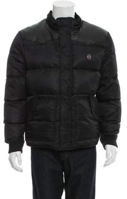 The Kooples Sport Leather-Trimmed Puffer Jacket