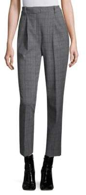 Rebecca Taylor Checked Pleated Pants