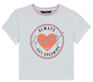George White Sequin Daydreaming Slogan T-Shirt