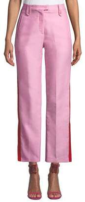 Pinko Side-Stripe Straight-Leg Tuxedo Pants