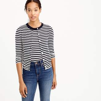 J.Crew Featherweight cashmere cardigan sweater in stripe