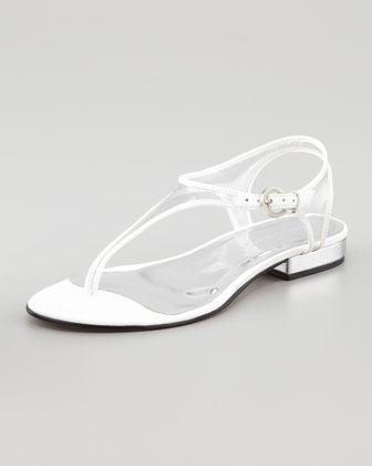 Bernardo Parker Flat Sandal, White