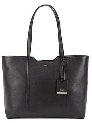 At Hugo Boss Per Bag In Grained Italian Leather