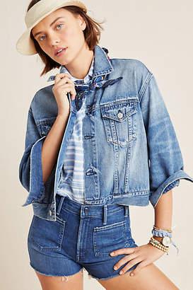 Amo Lulu Boxy Cropped Denim Jacket
