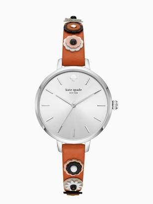 Kate Spade metro western rivet brown leather watch