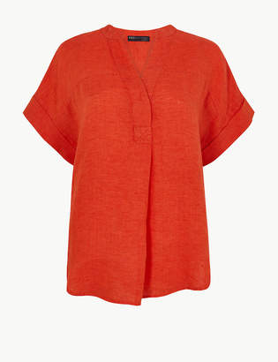 Marks and Spencer PETITE Pure Linen Blouse