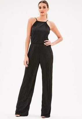 Missguided Tall Racer Neck Pleated Romper