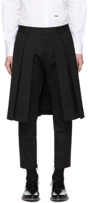 DSQUARED2 Black Wool Layered Trousers