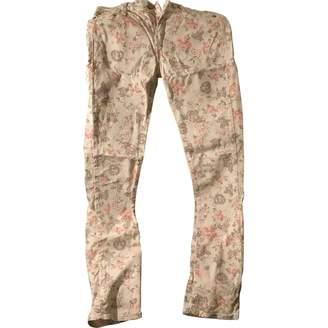Acquaverde Ecru Cotton Jeans for Women