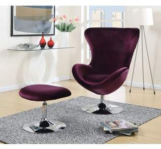 Furniture of America Adorra Contemporary Chair and Ottoman Set, Multiple Colors
