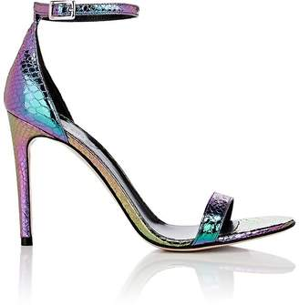 Barneys New York x Justine Skye Women's Iridescent Stamped Leather Sandals