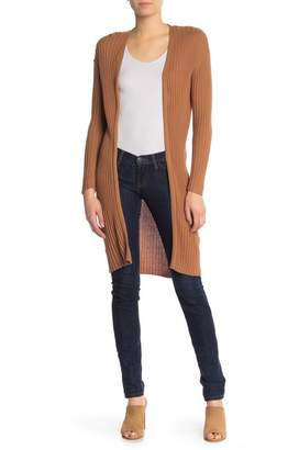 Abound Long Ribbed Construction Cardigan