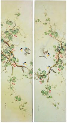 A&B Home Set Of Two Birds On A Branch Wall Art