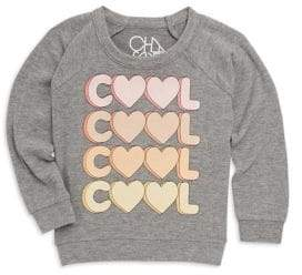 Chaser Little Girl's& Girl's Cool Crewneck Sweater