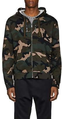 Valentino Men's Logo Camouflage Cotton-Blend Hoodie