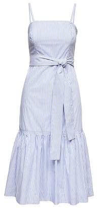 Banana Republic Petite Stripe Super-Stretch Midi Dress with Removable Straps
