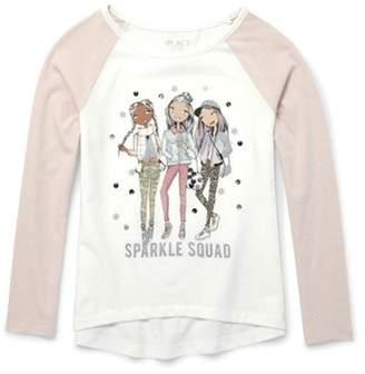 Children's Place The Girl Squad Raglan Long Sleeve Tee (Little Girls & Big Girls)