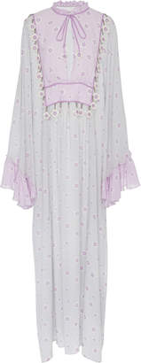 MY BEACHY SIDE Embroidered Voile Caftan Maxi Dress