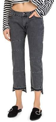 The Kooples Cropped Paneled Step-Hem Jeans