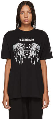 Marcelo Burlon County of Milan Black Cupido Tattoo T-Shirt