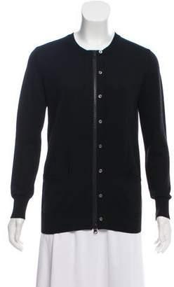 Sacai Wool Zip-Up Cardigan