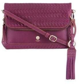 Lodis Rodeo Woven Leather Crossbody Bag