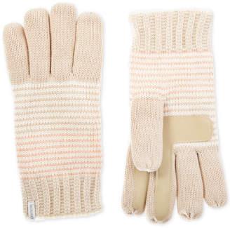 Isotoner Women's Touchscreen Striped Lurex Gloves