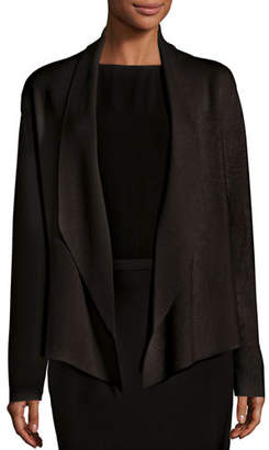 Eileen Fisher Shawl-Collar Draped Knit Jacket, Petite