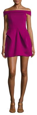Magnate Off The Shoulder Mini Dress $210 thestylecure.com