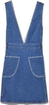 See by Chloe Denim Mini Dress in Shady Cobalt