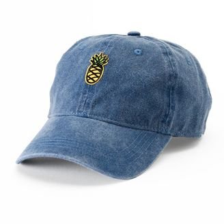 Women's SO® Denim Pineapple Patch Baseball Cap $22 thestylecure.com
