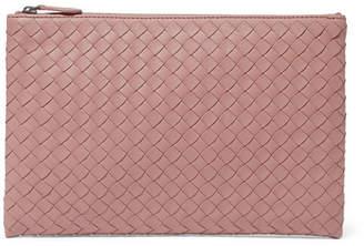 Bottega Veneta Intrecciato Leather Pouch - Pink