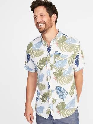 Old Navy Slim-Fit Linen-Blend Shirt for Men