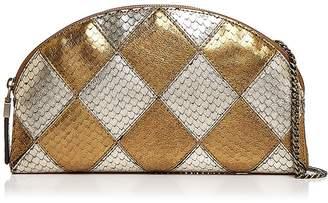 Eric Javits Pierrot Embossed Leather Shoulder Bag