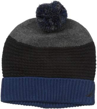 Nautica Men's Color Block Texture Cuff Hat