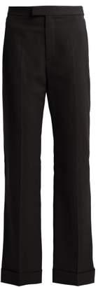 Maison Margiela Flared Cropped Trousers - Womens - Black